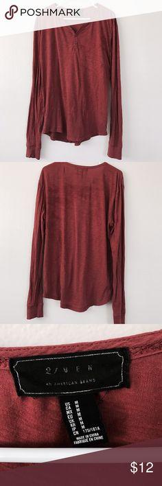 Forever 21 men's long sleeve tee Burnt orange men's long sleeve Henley. Great condition! Forever 21 Shirts Tees - Long Sleeve