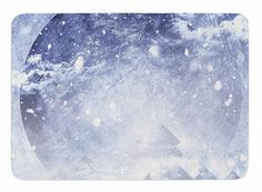 Even Mountains Get Cold by Elf Oersted Memory Foam Bath Mat
