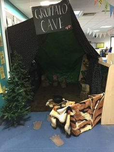 Gruffalo cave role play area
