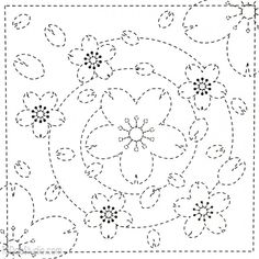 Japanese Embroidery Designs Japanese Sashiko Embroidery Sampler Kits, stars pattern, a simple way to learn this technique of embroidery which very meditative and portable. Sashiko Embroidery, Paper Embroidery, Learn Embroidery, Japanese Embroidery, Hand Embroidery Stitches, Embroidery Techniques, Cross Stitch Embroidery, Machine Embroidery, Embroidery Sampler