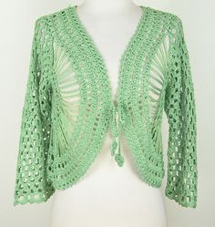 Aris A: Hairpin Crochet Bolero Jacket: - I so have to learn to crochet, this is gorgeous!!
