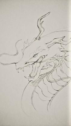 #realistic #dragon #BlackWhite #nocolor