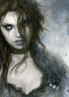 Fantasy Kunst, Fantasy Women, Dark Fantasy Art, Fantasy Girl, Fantasy Artwork, Dark Art, Gouts Et Couleurs, Art Village, Luis Royo
