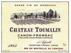 Chateau Toumalin 1985 Wine French Label