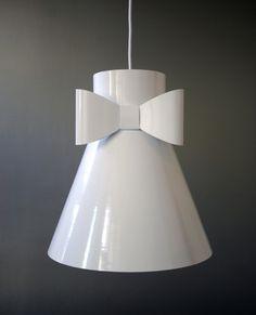 Rosett. Pendant hanging lamp in powder coated metal spun aluminium. Large size design. Produced in Sweden by Elin Riismark Design & Artwork