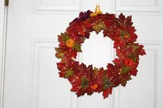 Shop for wreath on Etsy, the place to express your creativity through the buying and selling of handmade and vintage goods. Handmade Crafts, Handmade Jewelry, Cd Wall Art, Elegant Fall Wreaths, Halloween Items, Fall Season, Holiday Fun, Decorative Items, Vintage Christmas