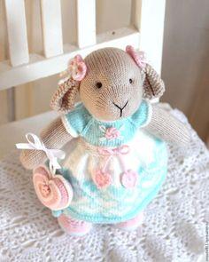 Игрушки животные, ручной работы. Ярмарка Мастеров - ручная работа. Купить Кукла Овечка Минти (вязаная игрушка). Handmade. Мятный