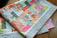 MADE TO ORDER Quilt Baby Toddler Fresh Cut Basic by PiecesOfPine