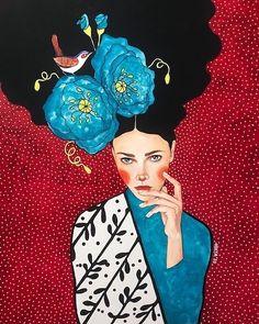 No Words Left Canvas Art by Hülya Özdemir Canvas Art Prints, Canvas Wall Art, Abstract Canvas, Graffiti, Portrait Art, Woman Portrait, Folk Art, Art Drawings, Poster