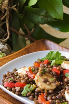 A South African-inspired dish: Banana Lentil Salad   (Don't knock it til you try it)