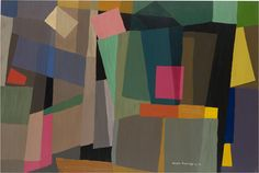 Grace Crowley'Abstract painting' 1952, oil on composition board, National Gallery of Victoria, Bequest of Grace Crowley 1979