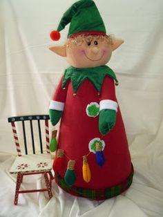 EL TALLER DE ROSA: MUÑECOS 2011 Christmas Sewing, Christmas Fabric, Christmas 2016, Christmas Elf, Family Christmas, Christmas Humor, Christmas Crafts, Christmas Decorations, Xmas