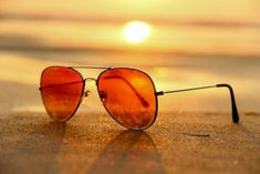 Red Lens Sunglasses on Sand Near Sea at Sunset Selective Focus Photography · Free Stock Photo Beach Sunglasses, Mirrored Sunglasses, Stylish Sunglasses, Men's Sunglasses, Prescription Sunglasses, Sunglasses Online, Promenade Sur La Plage, Beautiful Scenery Pictures, Tumblr Bff