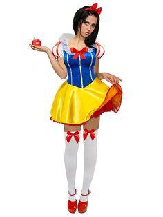 Schneewittchen Kleid Kostüm blau-weiss-gelb-rot - Artikelnummer: 237600000 - ab 38.99EURO - bei Karneval-Megastore.de!