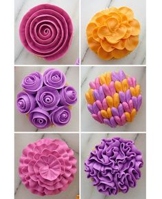 Just a few different examples of ways you top off a cupcake :) :) #cakedesigning #piping #cakeideas #cakedecoratingcourses