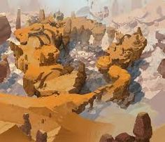 Image result for environments concepts mountains hill orange brown