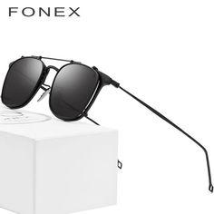 aa752237354 Buy B Pure Titanium Glasses Frame Men Clip on Polarized Sunglasses  Prescription Sun Glasses for Women Square Myopia Optical Eyewear