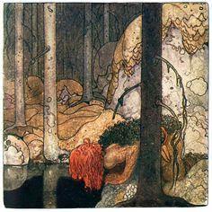 """John Bauer–illustration from """"ur Bland tomtar och..."""