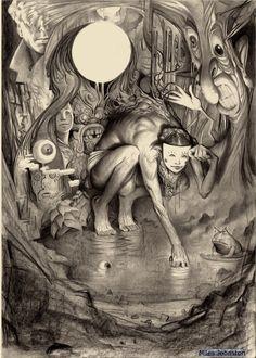 Miles-Johnston aka Miles Johnston (UK) - 4: Swamp, 2013  Drawings