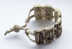 Your place to buy and sell all things handmade Antler Crafts, Antler Art, Antler Jewelry, Bone Jewelry, Bullet Casing Jewelry, Diy Leather Bracelet, Bone Crafts, Roe Deer, Bone Carving