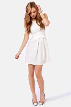 #Lulusengagmentpartydress Hot Off the Precious Ivory Dress at LuLus.com!