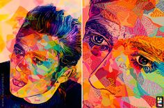 Pop Art Hollywood Stars Blasted With Colour #EasyPin