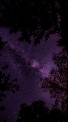 ideas wallpaper dark florest for 2019 Dark Purple Wallpaper, Night Sky Wallpaper, Purple Wallpaper Iphone, Forest Wallpaper, Star Wallpaper, Iphone Background Wallpaper, Dark Purple Background, Macbook Wallpaper, Wallpaper Lockscreen