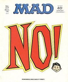 Cover for MAD (EC 1952 serie) #147 DECEMBER 1971