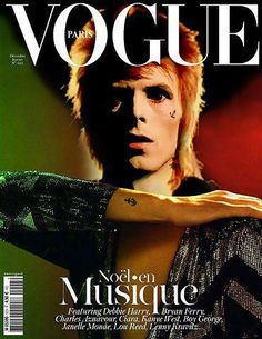 David Bowie on the cover of Vogue Paris.
