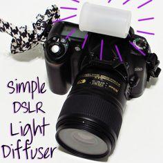 Coffee+Velvet: DIY Photography Friday: Simple DSLR Light Diffuser