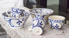 cerámica pintada a mano pack grecia para compartir www.arcillayluz.com