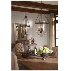 Westminster Large 3-light Autumn Bronze Indoor Pendant with Cloche Glass - Overstock Shopping - Great Deals on Sea Gull Lighting Chandeliers & Pendants