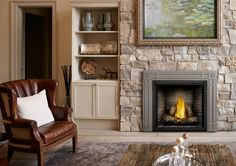Napoleon Gas Fireplace for Cozy Room Direct Vent Gas Fireplace, Vented Gas Fireplace, Cozy Fireplace, Living Room With Fireplace, Fireplace Design, Fireplace Mantels, Fireplace Ideas, Fireplace Makeovers, Room Makeovers