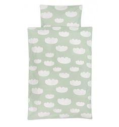 Funda Nórdica Cuna Bebé Junior y Adulto Nubes Menta Ferm Living Cloud Bedding Mint 70-100-140 x 100-140-200 cm
