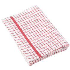 1 Dozen Original Lamont Poli-Check Tea Towel Kitchen Dish Towels Poli Dri, 12 Pack (Red) Lamont
