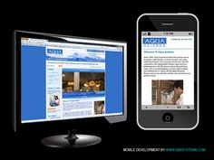 Mobile site for Aqua Science by BBB Systems.