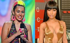 """During her acceptance speech for Best Hip-Hop Video at the MTV Video Music Awards on Sunday night, Nicki Minaj called out Miley Cyrus for an interview Cyrus gave to the New York Times late last week.  """"You know who I want to thank tonight? My pastor,"""" Minaj said. """"I love you so much. And now, back to this bitch that had a lot to say about me in the press. Miley what's good?"""""""