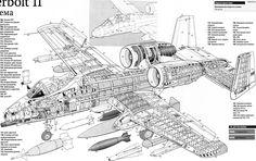 A10 Thunderbolt2 Aircraft Cutaway