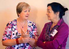 Catherine Dunne e Celia de Fréine, Nogarole Rocca (Verona), 3 Maggio 2012.  Fotografia di Barbara Gozzi