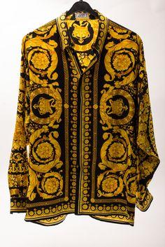 e90bcf8f Silk black/gold barocco Versace Silk Shirt, Versace Shorts, Versace Pattern,  Expensive