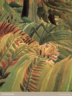 Henri Rousseau - Art Naïf - Tiger in the Rainforest - Detail