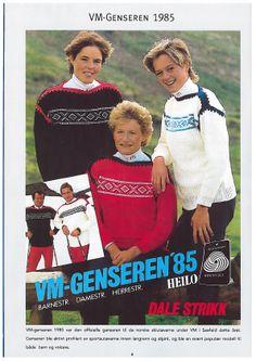 VM 1985 Seefeld Norwegian Knitting, Vintage Knitting, Jumpers, Ol, Knitting Patterns, Baseball Cards, Sports, Jackets, Threading