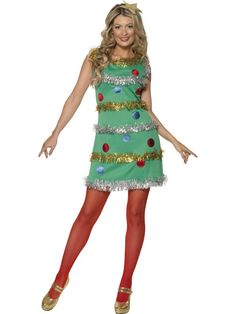 Adult Christmas Tree Costume Sexy Ladies Xmas Fancy Dress Outfit New Christmas Costumes For Adults, Christmas Tree Costume, Holiday Costumes, Halloween Costumes, Costume Paris, Costume Dress, Ugly Sweater Party, Ugly Christmas Sweater, Fancy Dress Outfits