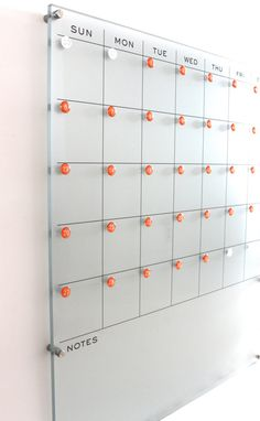 We are excited to offer these NEW floating dry erase calendars! These new plexiglass calendars literally float on the wall! They look like they