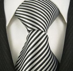 http://www.yourneckties.com/scott-allan-mens-striped-necktie-black-and-silver/