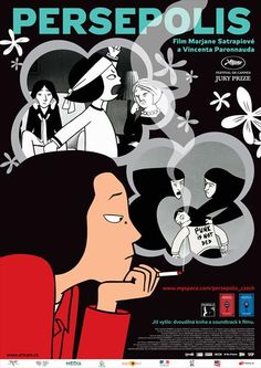 Picture of Persepolis Disney Animated Movies, Disney Films, Persepolis Film, Cool Posters, Movie Posters, Cinema, Geek Out, Disney Animation, Film Movie