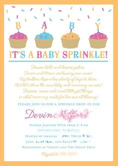 a Baby Sprinkle instead of a Baby Shower. Like this idea, because my daughter has a ton of stuff, it's just nice to celebrate every baby!:) plus who doesn't need diapers