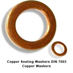 Copper Sealing Washers DIN 7603 Copper Washers #CopperSealingWashers  #DIN7603CopperWashers  We are a large Indian manufacturer exporter and supplier of Copper washers , DIN 7603 Copper sealing washers. We have latest Japanese power presses which can churn out high quality Copper washers to close tolerances and various DIN standards including DIN 7603 . We also manufacture Copper seals , Copper flat washers, packing washers, and Copper sealing washers, Gaskets etc to customer specifications.