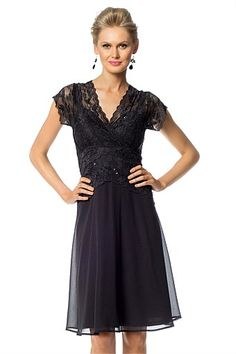 Dresses   Buy Women's Dresses Online - Grace Hill Chiffon Skirt Lace Dress also comes in antique gold $129.99