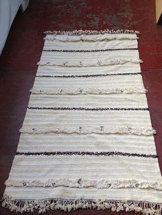 Pretty Vintage Moroccan Handira Blanket by Artofvintagesouk on Etsy